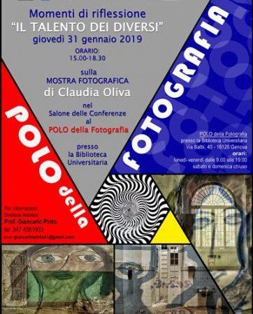 Iniziative del Polo della fotografia di Genova, diretto dal professor Giancarlo Pinto